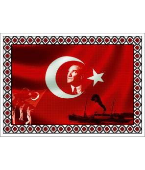 Atatürk Halı Portresi 50 x 70 cm. No:14