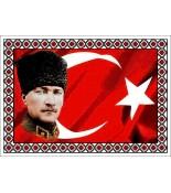 Atatürk Halı Portresi 50 x 70 cm. No:15