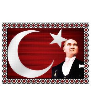 Atatürk Halı Portresi 50 x 70 cm. No:18