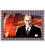 Atatürk Halı Portresi 50 x 70 cm. No:19