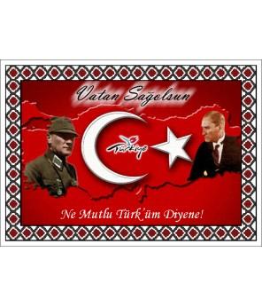 Atatürk Halı Portresi 50 x 70 cm. No:21