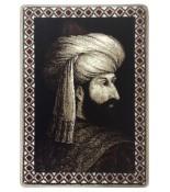 Fatih Sultan Mehmet Halı Portresi 50 x 70 cm. No:1