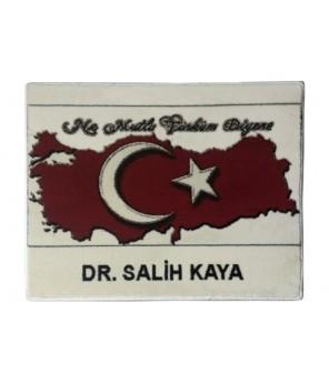 Ayyıldızlı Türkiye Haritası Halı Portresi (THno1)
